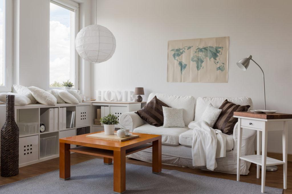 tasteful living room