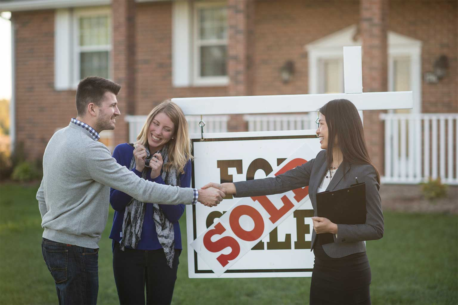 excited new orleans home buyers