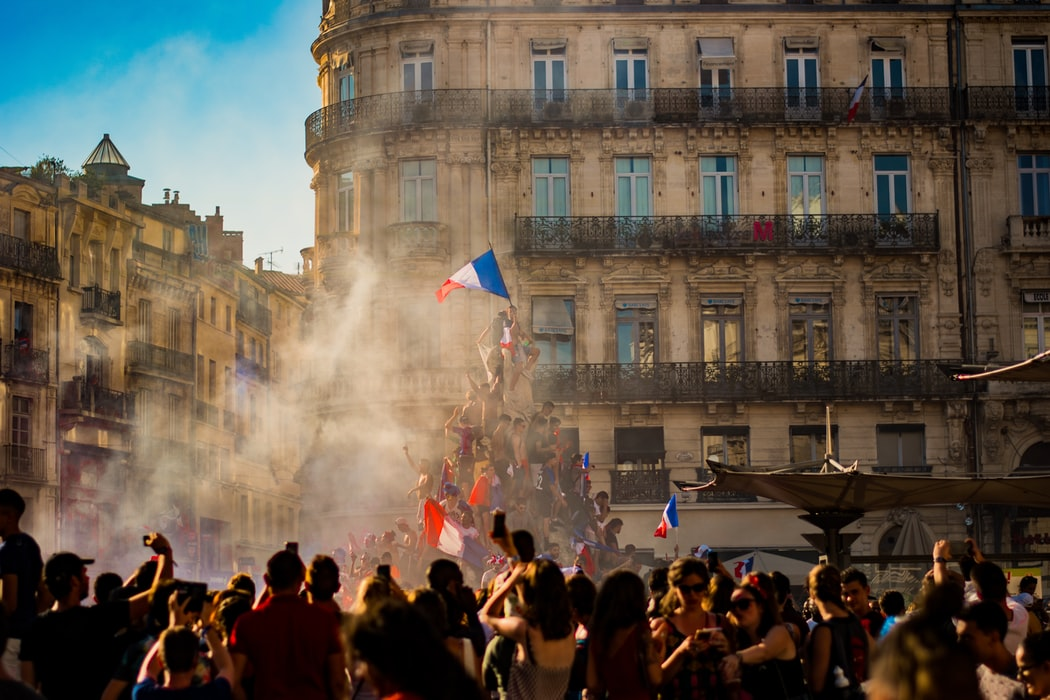 People celebrating in France.