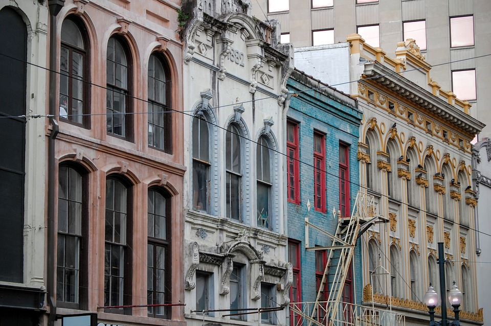 Buildings in New Orleans.