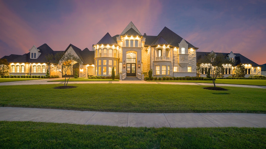 Exterior shot of large home.