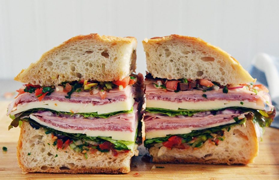 Muffuletta, and other New Orleans dishes