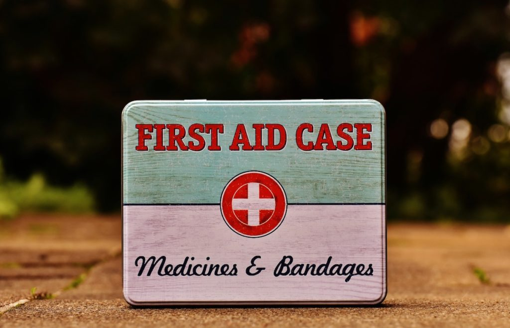 First aid kit for hurricane season