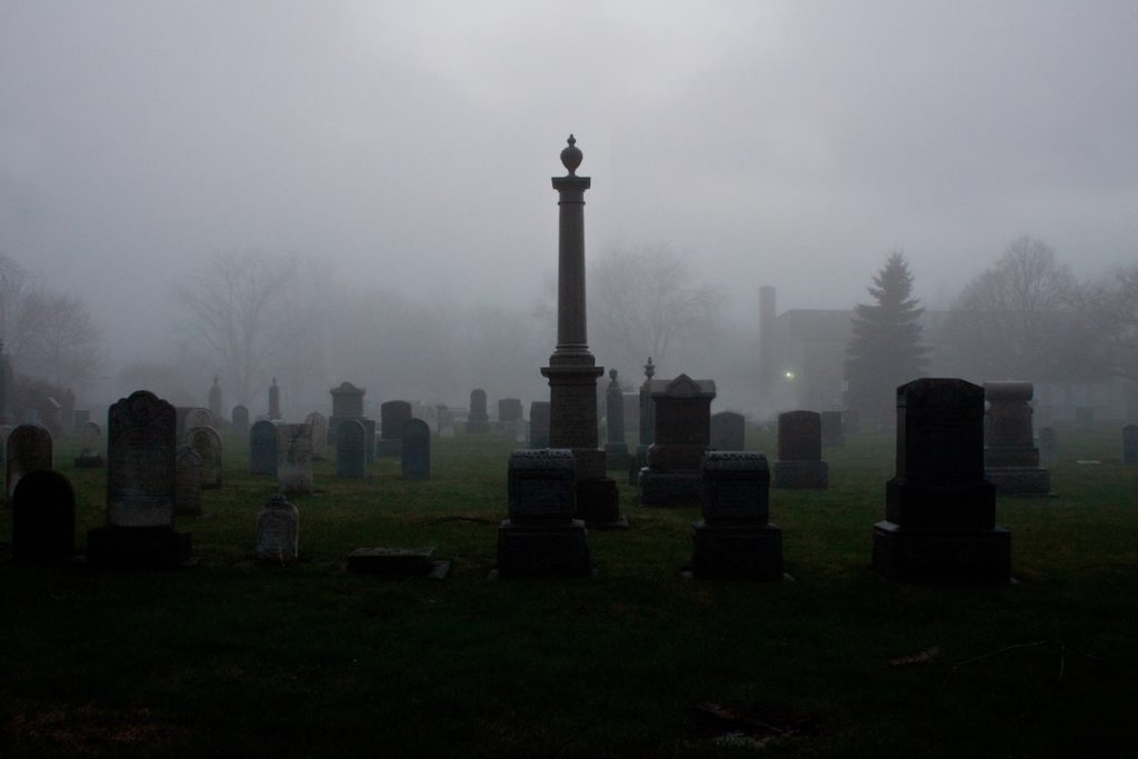 Cemetery in the clouds